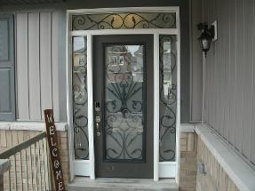 Awesome Wrought Iron Door Inserts